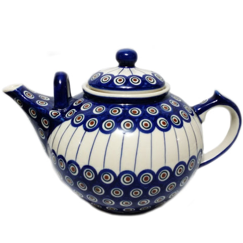 Large 3L Teapot in Peacock pattern