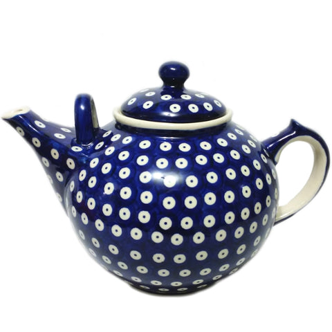 Large 3L Teapot in Polka Dot pattern