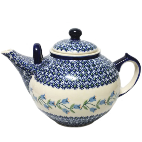 Large 3L Teapot in Trailing Lily pattern