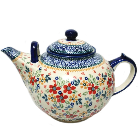 Large 3L Teapot in Summer Garden pattern