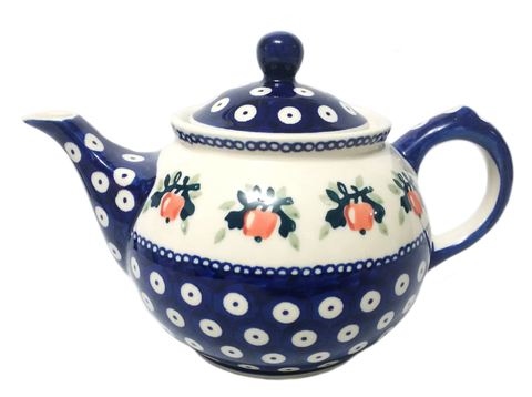 Morning teapot in Red Apple pattern