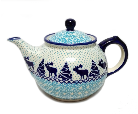 Morning teapot in Reindeer pattern