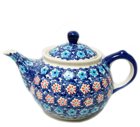 Morning teapot in Forget Me Not pattern