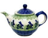 Morning teapot in Spring Bunny pattern