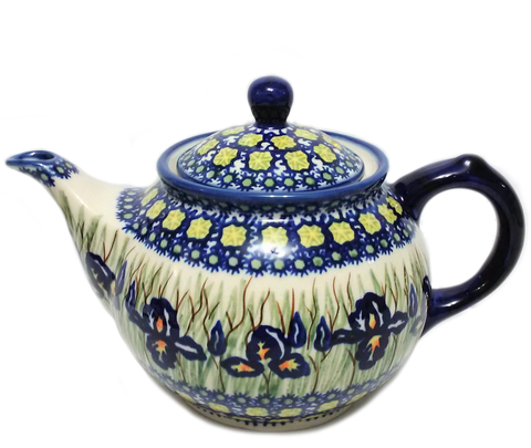 Morning teapot in Signed Iris pattern
