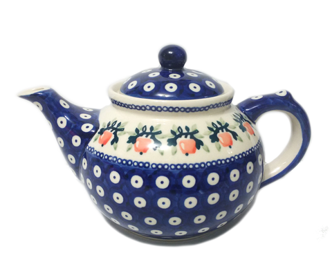 Afternoon teapot in Red Apple pattern