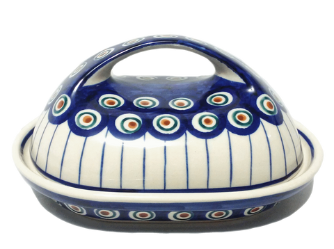 Butter dish in Traditional Peacock pattern