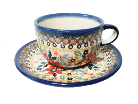 Teacup in Summer Garden pattern