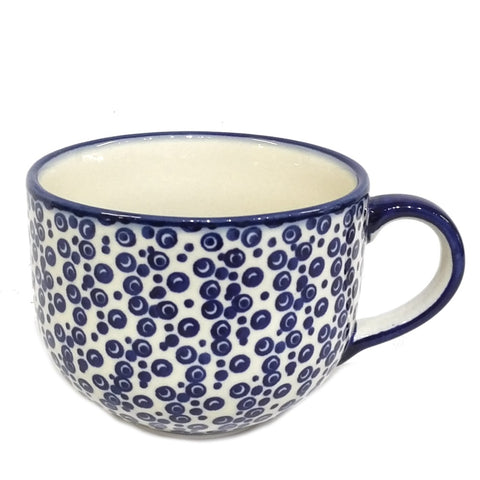 500ml Cappuccino/Soup mug in Bubbles pattern