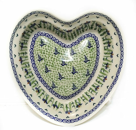 Heart shaped Bowl / Baker in Dancing Garden pattern