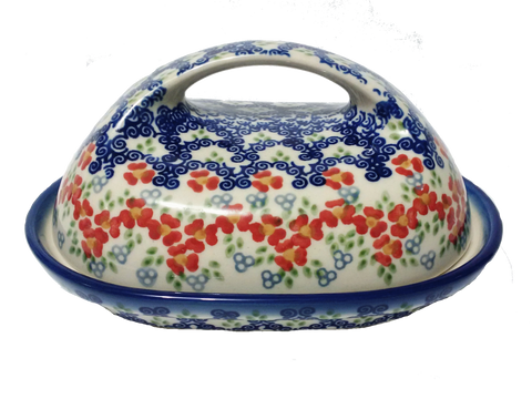 Butter dish in Unikat Poppy Meadow pattern