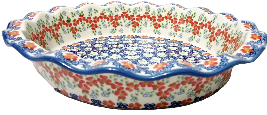 Fluted pie dish in Unikat Poppy Meadow pattern.  sc 1 st  By Hand and Fire : fluted pie plate - pezcame.com
