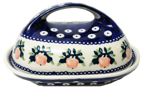 Butter dish in Apple pattern