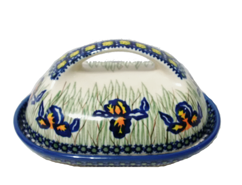 Butter dish in Signed Iris pattern