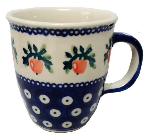 300ml Bistro mug in Red Apple pattern