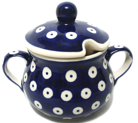 Sugar Bowl in Polka Dot pattern