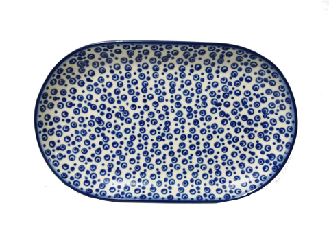 "Oval Platter 9.25"" in Bubbles pattern"