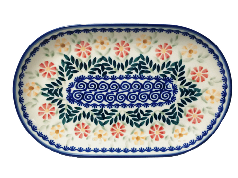 "9.25"" Oval Platter in Spring Morning pattern"