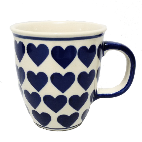 Bistro mug 0.3L in a Wrapped in Hearts pattern
