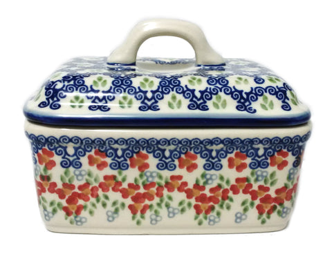 Butter box in Unikat Poppy Meadow pattern