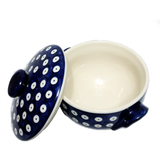 Soup Bowl w/Lid in Polka Dot pattern