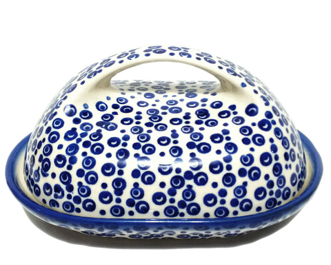 Butter dish in Traditional Bubbles pattern