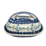 Butter dish in Trailing Lily pattern