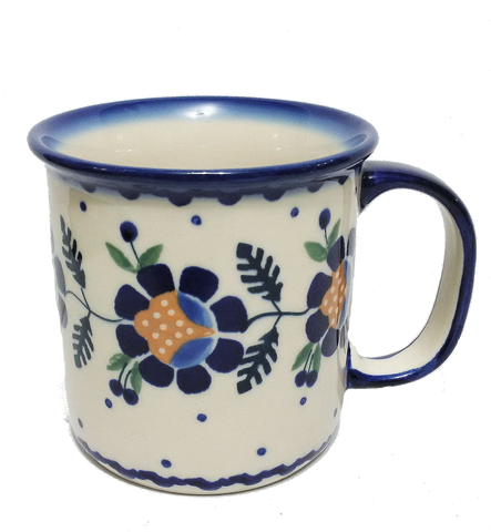 Large mug in Blue Daisy pattern