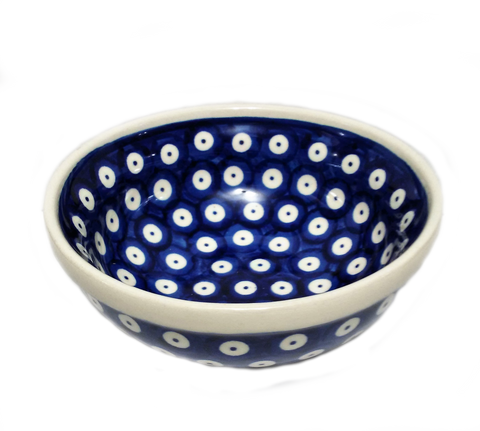 "5.75"" Cereal / Soup Bowl in Polka Dot pattern"