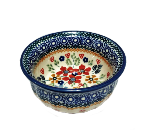 Snack Bowl in Signed Summer Garden pattern