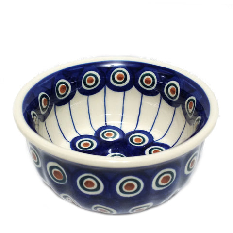 "4.5"" Snack Bowl in Peacock pattern"