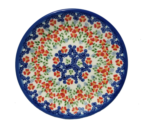 "Bread and Butter Plate 6.5"" in Unikat Poppy Meadow pattern"