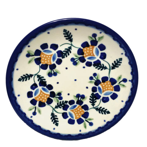 "6.5""Bread and Butter Plate in Blue Daisy pattern"