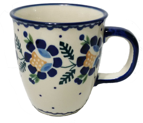 Bistro mug 0.3L in Blue Daisy pattern