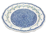 "13"" Fluted Platter in Trailing Lily pattern"