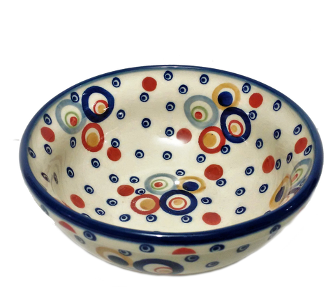 Cereal / Soup Bowl in Unikat Happy Bubble pattern