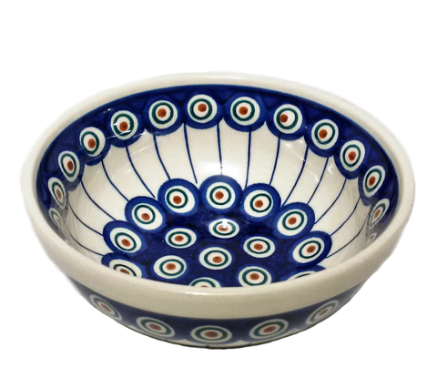 Cereal/Soup Bowl in Peacock pattern