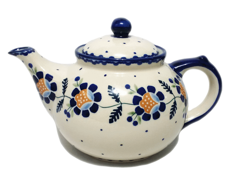 Afternoon teapot in Blue Daisy pattern