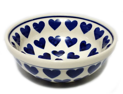 Cereal/Soup Bowl in Wrapped in Hearts pattern