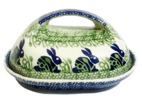 Butter dish in Spring Bunny pattern
