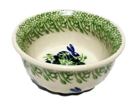 "4.5"" Snack Bowl in Spring Bunny pattern"