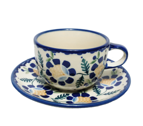 Teacup in  Blue Daisy pattern