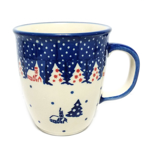 Bistro mug 0.3L in Winter Village pattern