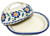 Butter dish in Traditional Blue Daisy pattern