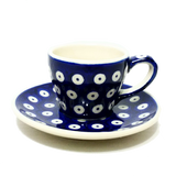 2oz Espresso cup in Polka Dot pattern