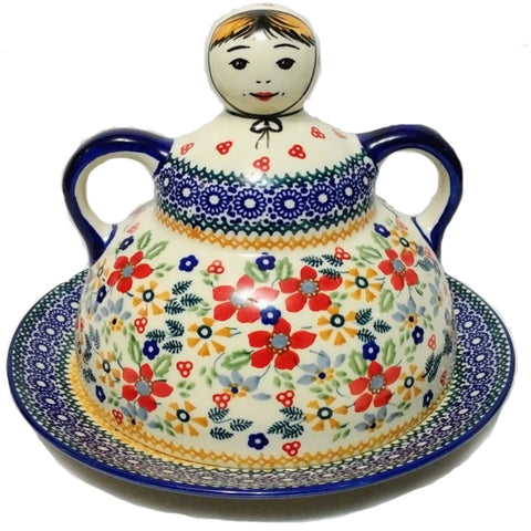 Pancake / Cheese Lady in Summer Garden pattern
