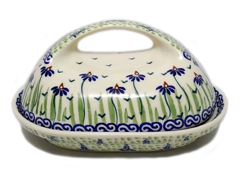 Butter dish in a Dancing Garden pattern