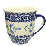 450ml Large Bistro Mug in Trailing Lily pattern