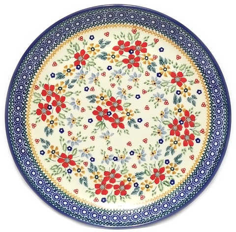 "Dinner Plate 11.25""/28.5cm in a Signed Summer Garden pattern"