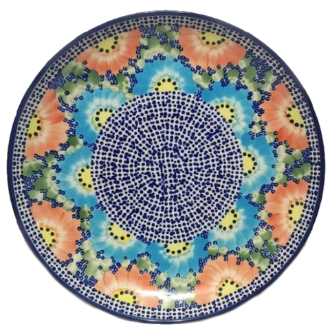 "Dinner Plate 10.75""/27cm in Unikat Poppies Galore pattern"